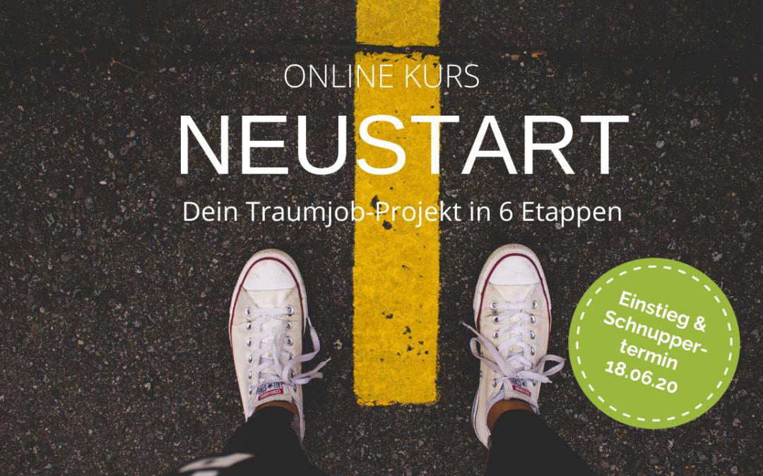 NEUSTART: Dein Traumjob-Projekt in 6 Etappen